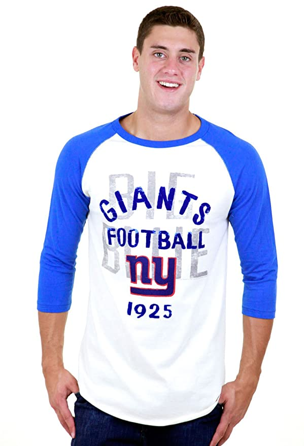 8ae1b91fa Amazon.com  Junk Food NY Giants Rookie 3 4 Sleeve