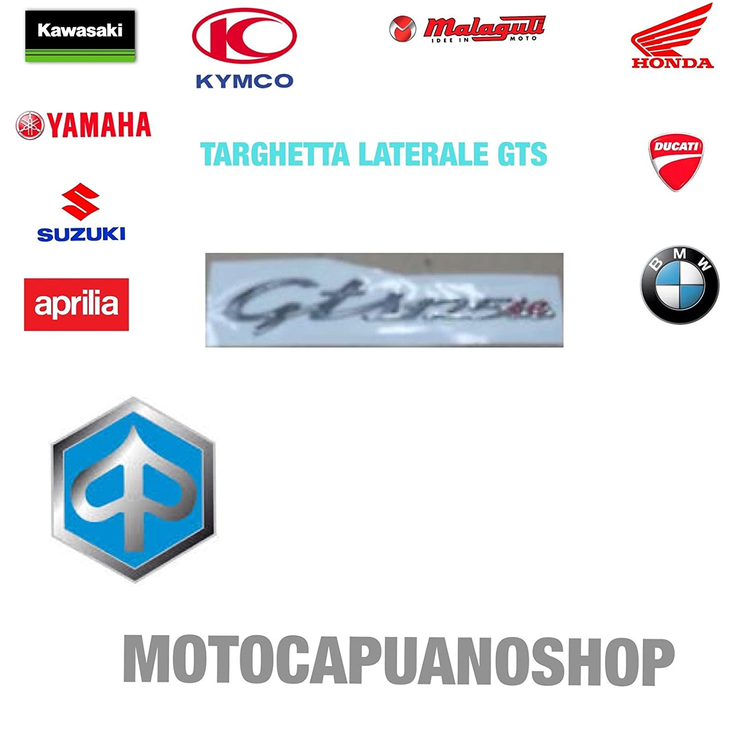 656462 Cartel Vespa GTS 125 Ie para brida lateral: Amazon.es ...