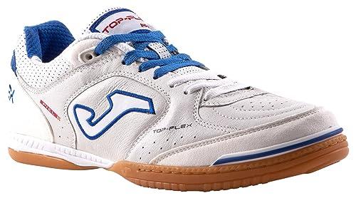 Joma Top Flex Zapatillas de fútbol Sala, Hombre, Blanco (602 White/Black