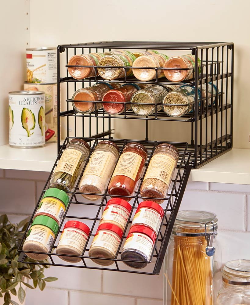 The Lakeside Collection Metal Cabinet Spice Rack by The Lakeside Collection (Image #1)