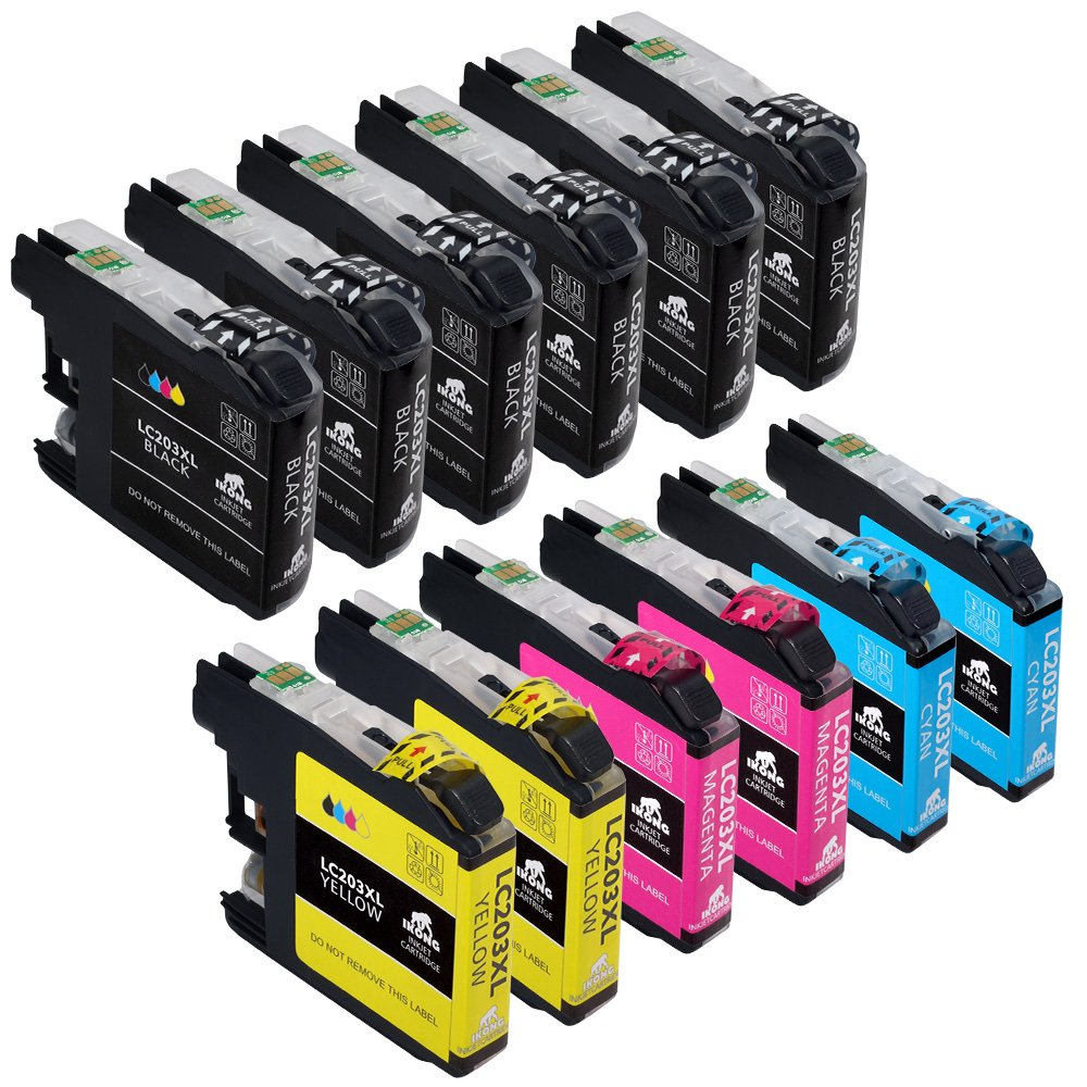 12-Pack IKONG Compatible for Brother LC203 LC203XL Works with Brother MFC-J480DW,J680DW,J485DW,J885DW,J460DW,J880DW,MFC-J4420DW,J4620DW,MFC-J4320DW,MFC-J5620DW,MFC-J5520DW,MFC-J5720DW by IKONG