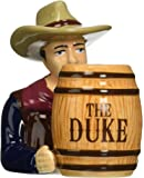 Westland Giftware John Wayne The Duke & Barrel Magnetic Ceramic Salt & Pepper Shaker Set, Multicolor
