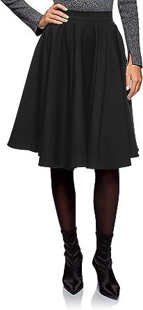 oodji Ultra Mujer Falda Midi con Forro de Rejilla: Amazon.es: Ropa ...