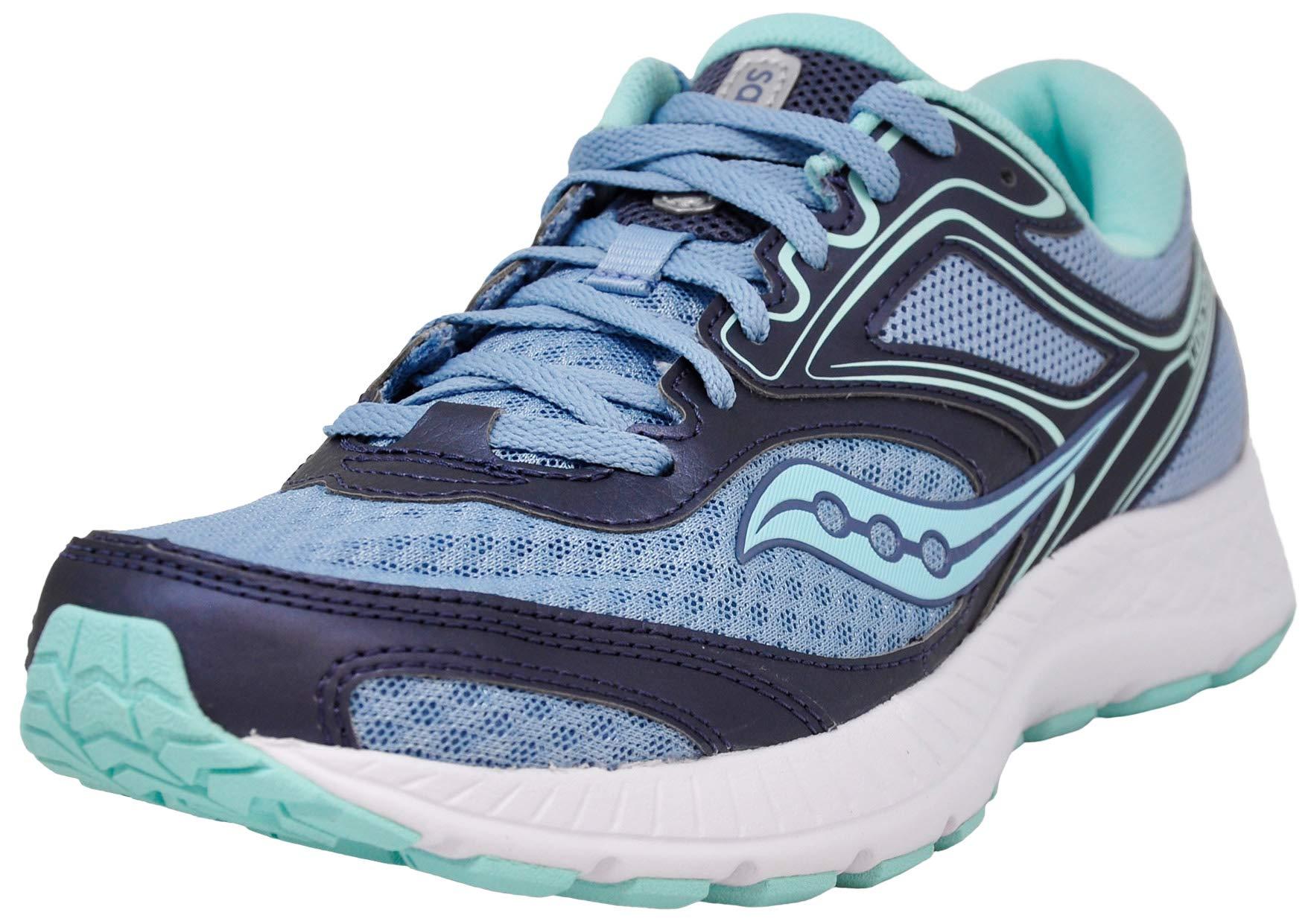 Saucony Women's VERSAFOAM Cohesion 12 Road Running Shoe, Blue/Mint 11 M US by Saucony