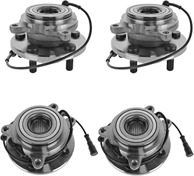 TAY100060 Front 5 Lugs ABS Sensor Fit Land Rover Discovery//Land Rover Discovery Series II 1999-2004 AUTOMUTO Wheel Hub Bearing Pack of 2