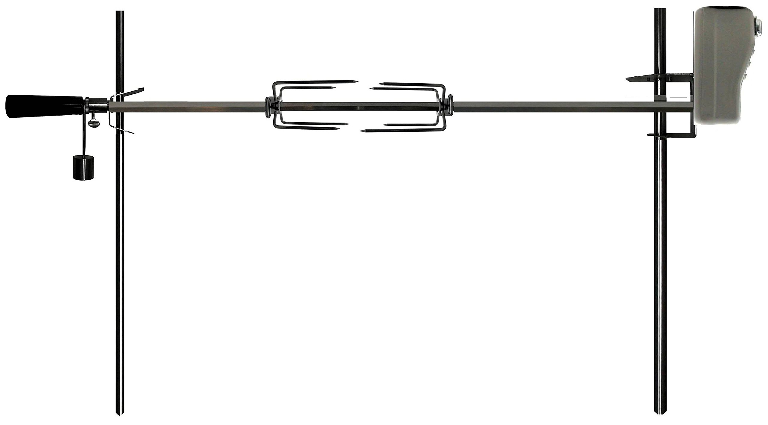 OneGrill Electric Dual Post Open Fire Rotisserie System- 53'' Chrome