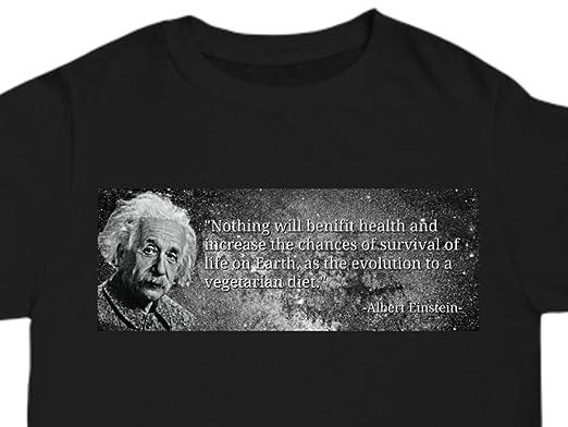 Mens T Shirt Albert Einstein Vegetarian Quote Vegan Activist