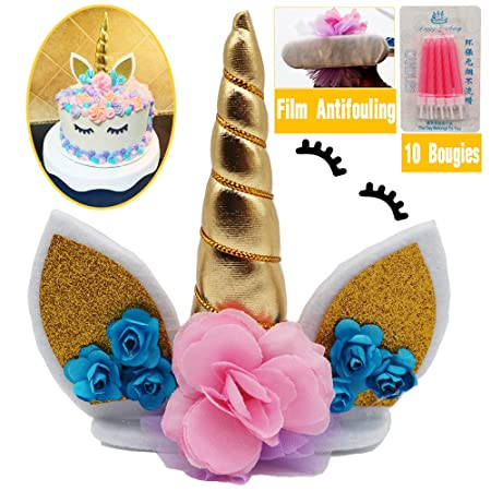 Decoración de unicornio, tarta, tarta, unicornio, decoración ...