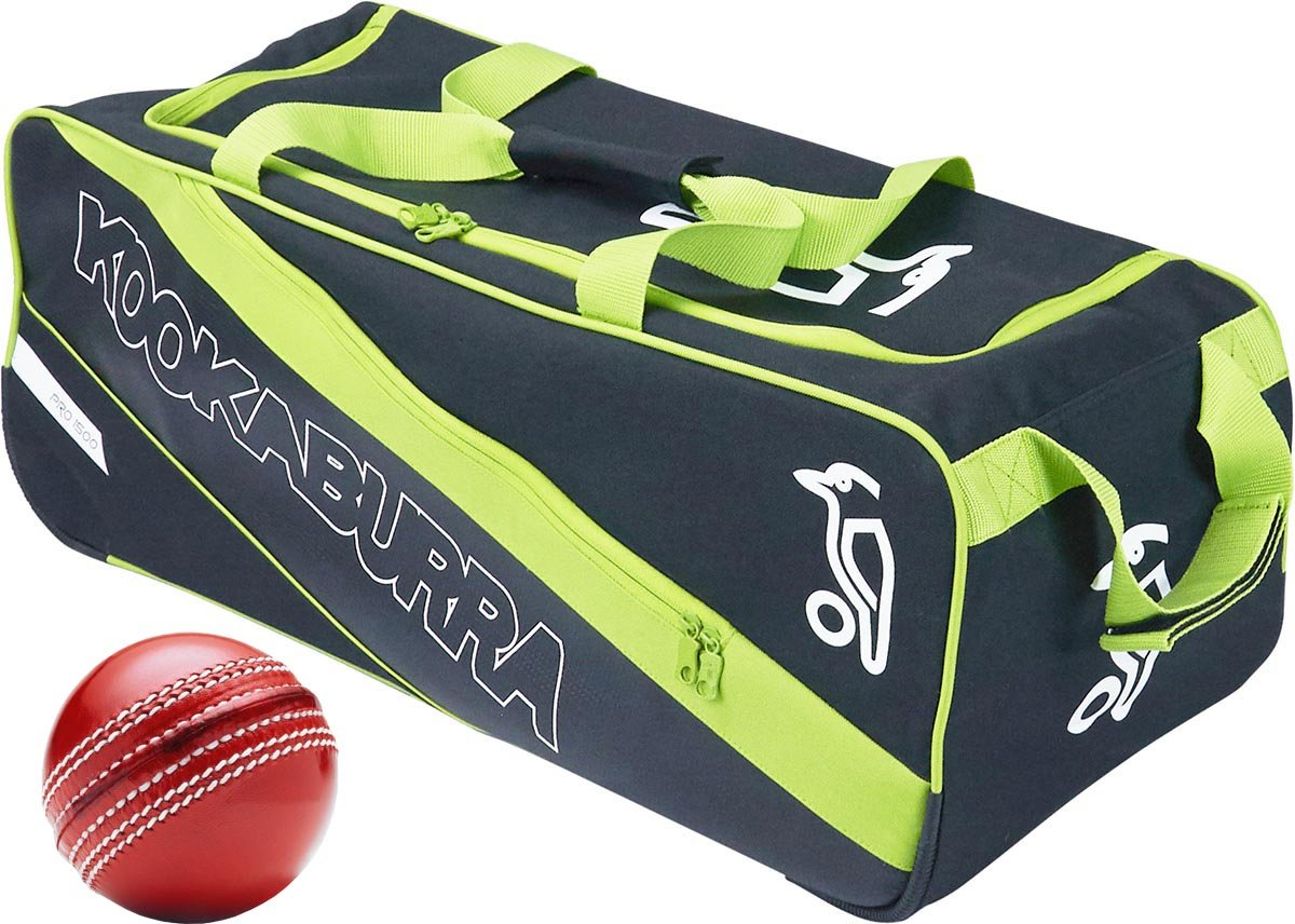 Kookaburra Cricket Team Pro 1500 Junior Wheelie Bag 700x310x260mm With Free Ball Only Cricket