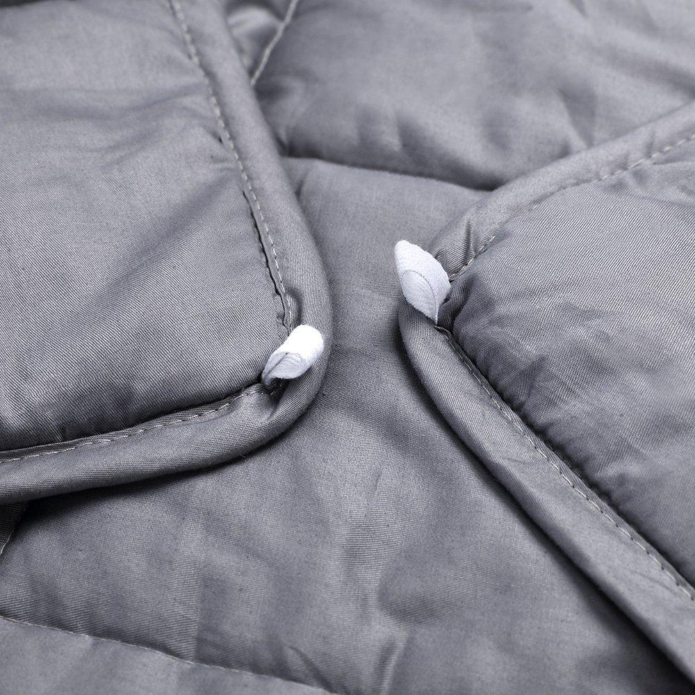 Anjee Gravity Weged Blankets Ideal para Adultos sufren de sueño,ansiedad | Mantas Pesadas con Material de algodón y Perlas de Vidrio (9.1 kg por Persona de ...