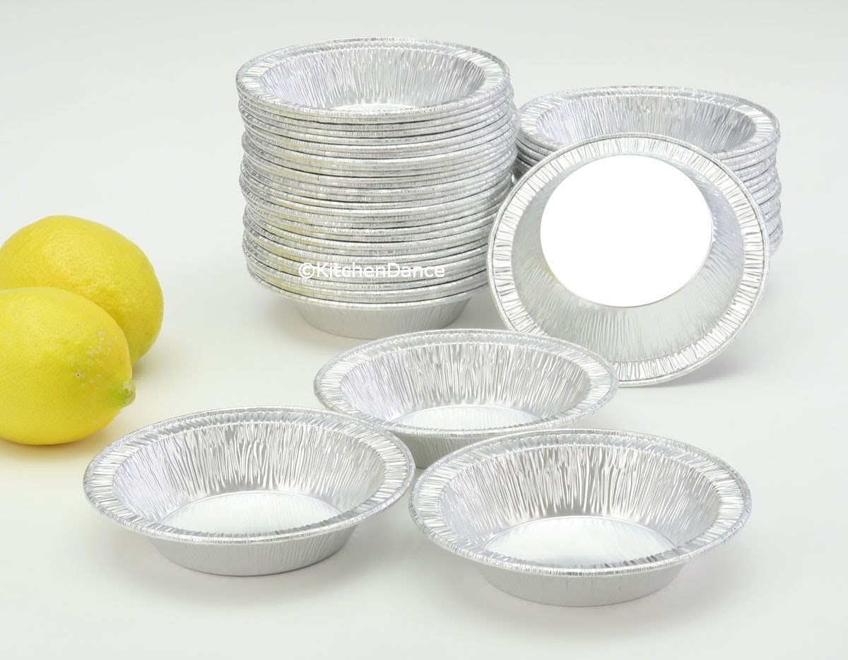 D & W Fine Pack 5 oz. Disposable Aluminum 4½'''' Deep Tart/Individual Pie Pan #B13 (250) by KitchenDance (Image #3)