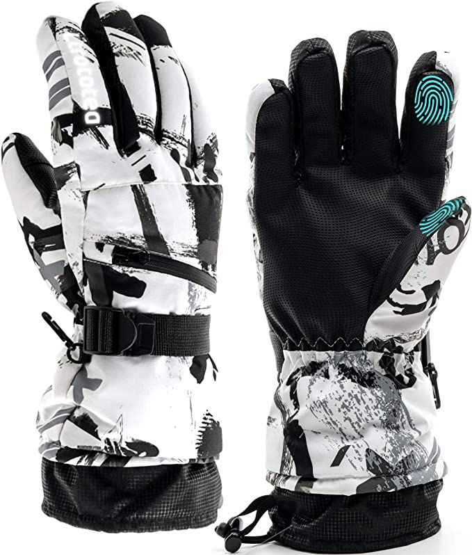 Winter Warm Gloves Touch Screen Gloves Waterproof Fleece Zipper Pocket Gloves Skiing Cycling Outdoor Sport Cold Weather Gloves for Men/&Women