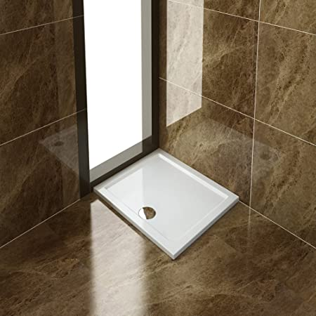 ELEGANT Rectangular 900 x 760mm Shower Enclosure Tray with Waste ...