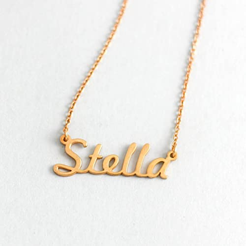 Name necklace gift idea for girlfriend gift personalized baby name necklace gift idea for girlfriend gift personalized baby gift sterling silver name negle Choice Image