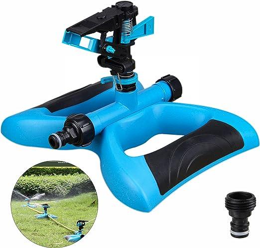 munloo Aspersor Jardín, Aspersor Premium para Regar Grandes Areas de hasta 360 Grados, Pulverizador Agua Giratorio Automático para Césped, Jardín (Azul): Amazon.es: Jardín