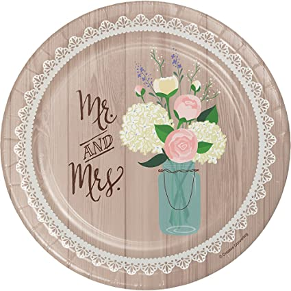 Creative Converting 8 Count Sturdy Style Paper Dessert Plates 7\u0026quot; Rustic Wedding  sc 1 st  Amazon.com & Amazon.com: Creative Converting 8 Count Sturdy Style Paper Dessert ...