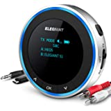 ELEGIANT Bluetooth 5.0 sändarmottagare, Trådlös ljudadapter med OLED skärm Trådlös splitter (AUX, RCA), Låg latens, Dual…