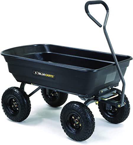 Gorilla Carts Poly Garden Wheelbarrow - Best For Garden Work