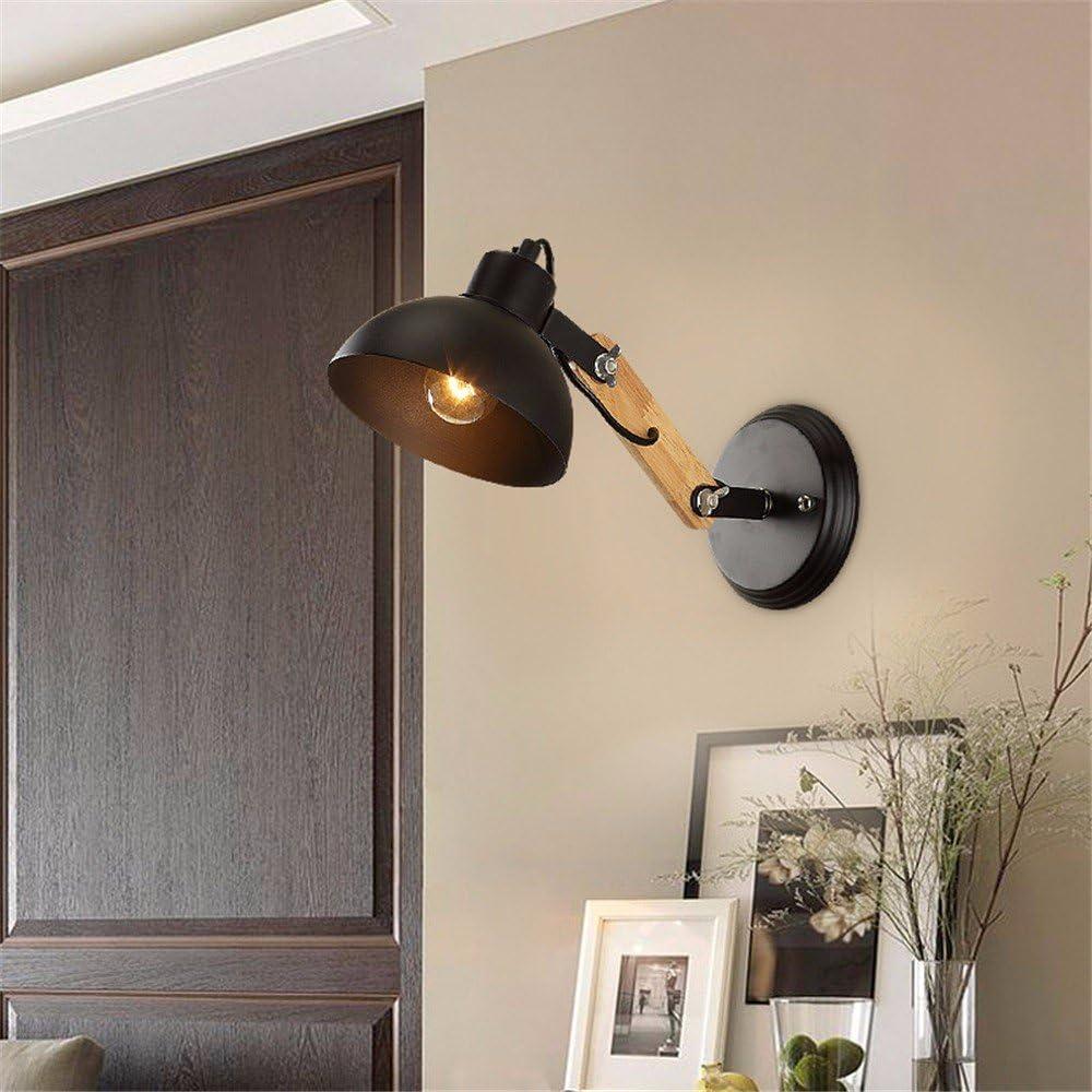Avanthika E27 Lámpara de pared vintage aplique de pared de hierro lámpara de pared LED Lámpara de estudio idílico exquisita escalera de madera buhardilla con dormitorio, la cabecera de la cama para