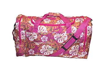 cc9a8c2a5f Image Unavailable. Image not available for. Colour  Hi-Tec Ladies 22 quot   FLORAL HOLDALL GYM TRAVEL WEEKEND OVERNIGHT BAG (Pink)