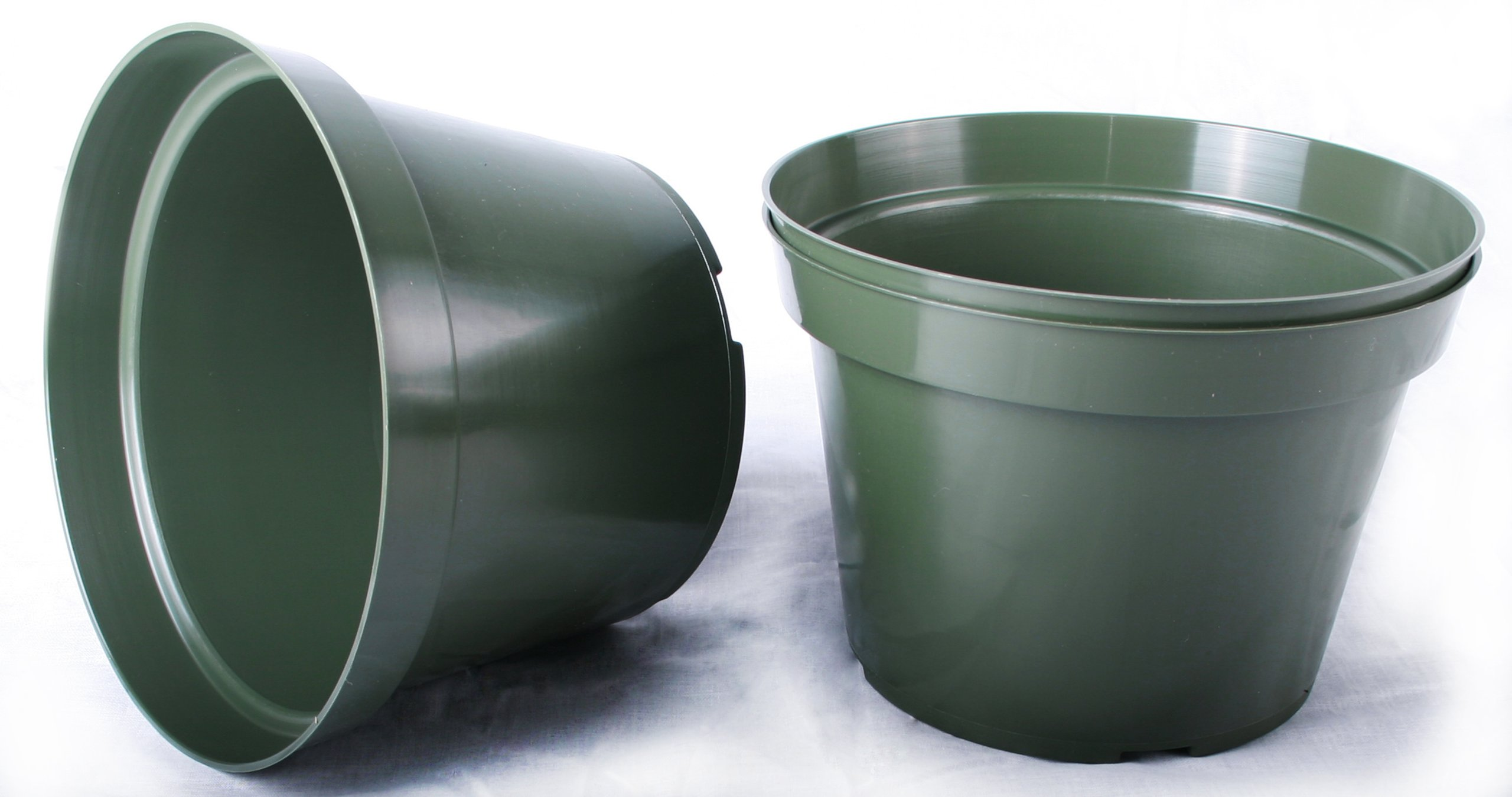 20 NEW 6 Inch Azalea Plastic Nursery Pots ~ Pots ARE 6 Inch Round At the Top and 4.25 Inch Deep.