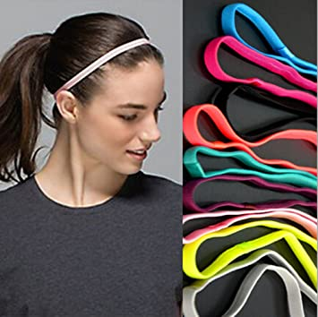 20bac58cd0ed Image Unavailable. Image not available for. Color  Yeshan Sports Headband  No Slip Grip Hairband Elastic ...