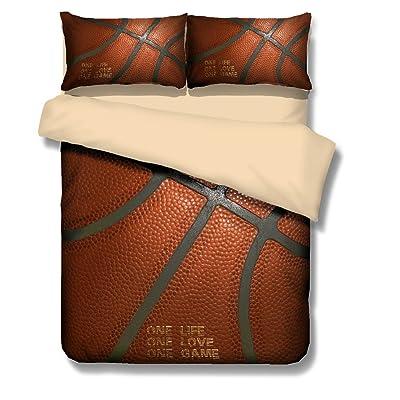 Mangogo American Fantastic Basketball Comforter Cover Bedding Set ...