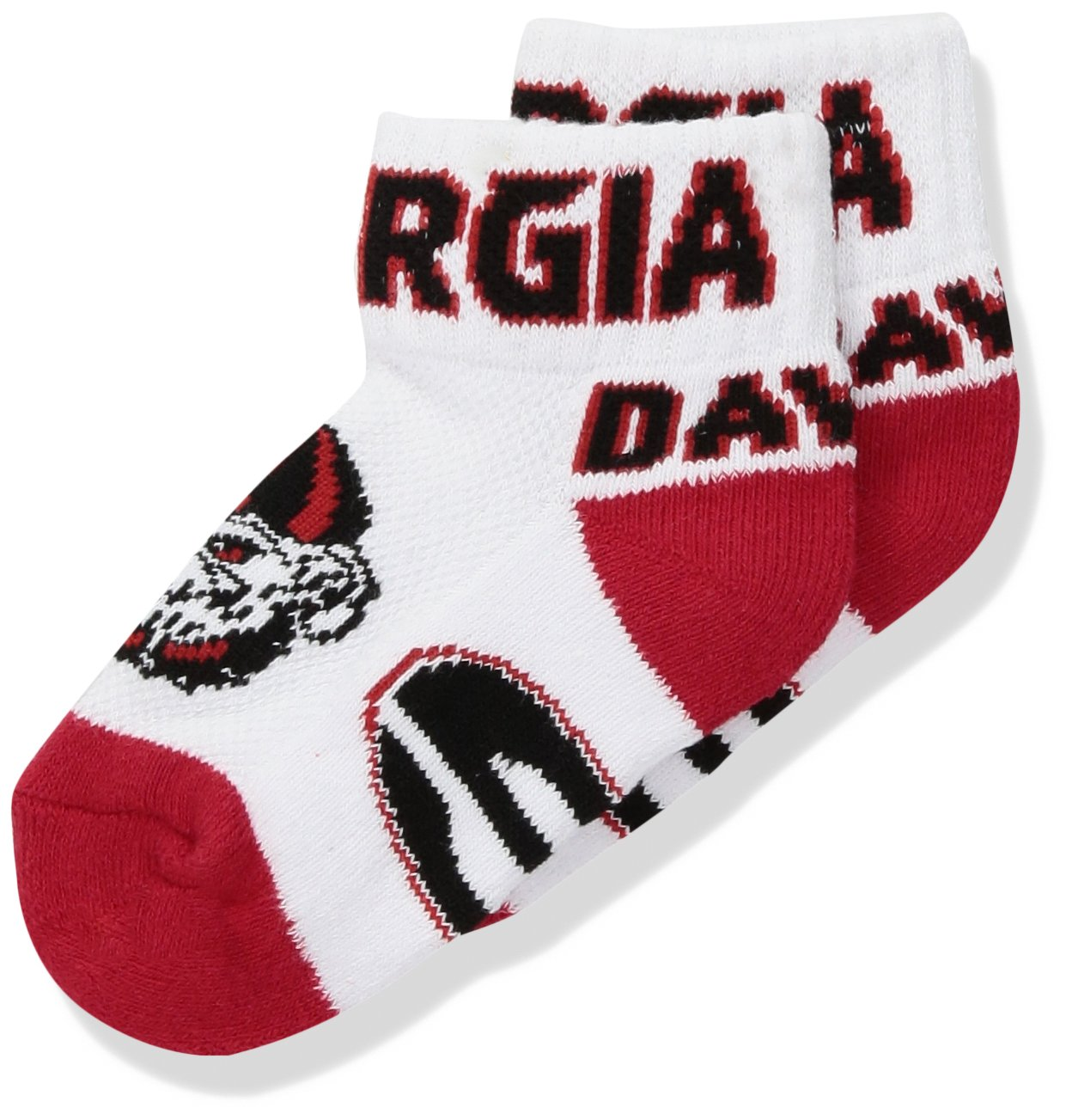 【即日発送】 NCAA Georgia Qtr BulldogsユニセックスGeorgia Baby Qtr Baby sockgeorgia Baby Qtr Sock Baby、レッド、Bax 12 – 24ヶ月 B01MXJ2K6J, 綴喜郡:849efb5e --- domaska.lt