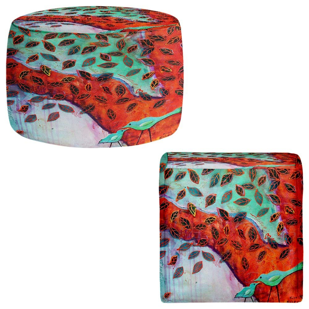 Foot Stools Poufs Chairs Round or Square from DiaNoche Designs by Kim Ellery - Eternal Love