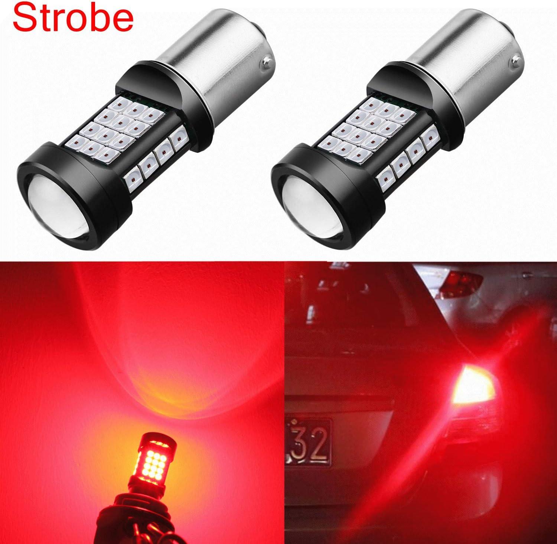 Strobe Flash Reverse light 1156 BA15S 7506 3497 P21W LED Green Backup W1 JA