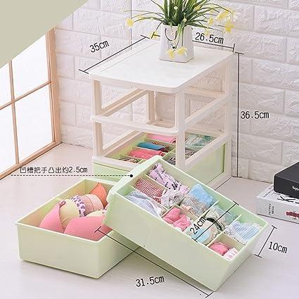 Genial YONGHUN Drawer Underwear Storage Box Sub Bra Underwear Socks Storage Box (  Color : Green