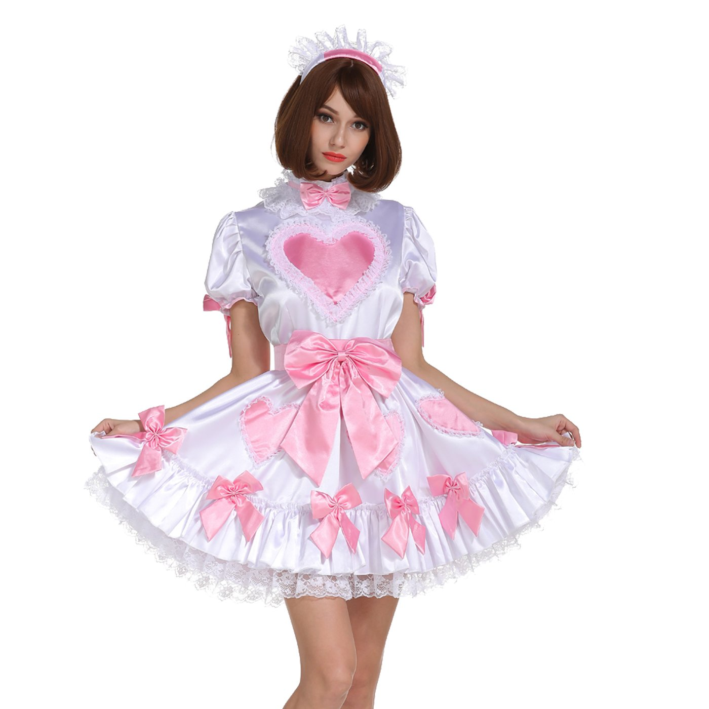 GOceBaby Sissy Maid Lockable Amazing Stain Heart Dream Dress Crossdressing (XXL) AB-01-169-4