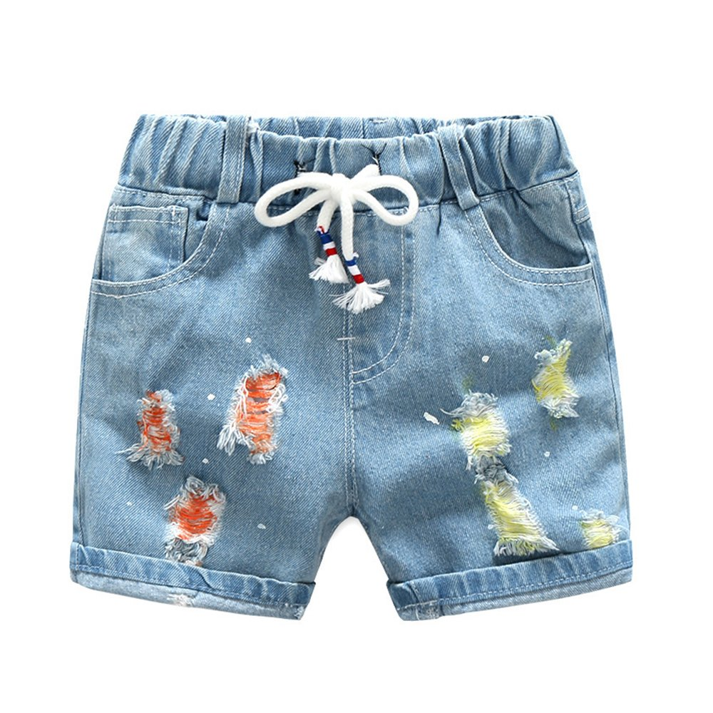 Ian/&Sophia Boys Colored Ripped Jeans Shorts