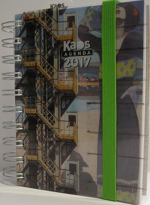Agenda 2017 Kaos espiral diaria Fantasia 13 x 12 x 2, color ...
