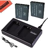 BM Premium 2 ENEL19 Batteries & Dual Battery Charger for Nikon Coolpix A300, W100, S3100, S3200, S3300, S3500, S3600, S3700, S4100, S4200, S4300, S5200, S5300, S6400, S6500, S6800, S6900, S7000 Camera