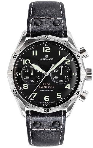 Junghans Meister Piloto edición Limitada de 150 Made 027/3592 Negro Dial Automático Chronoscope: Junghans: Amazon.es: Relojes