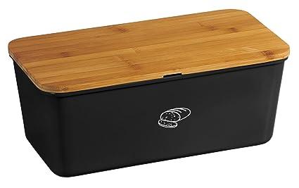 Kesper Brotbox - Panera para guardar el pan y para cortarlo (melamina, 340 x