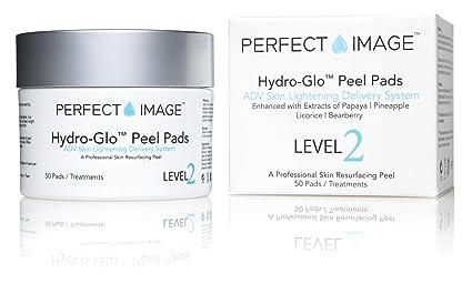 Perfect Image - Discos de exfoliación iluminadores de la piel HYDRO-GLO – enriquecidos con láctico | mandélico | glutatión | ácido kójico | papaya | ...
