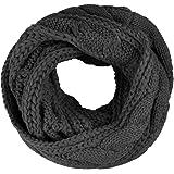 Fletion Damen Herren Stricken Wolle Schals warmen Winter Dicke Schal Schleife Kreis Schal Gestrickte Rundschal Loop-Schal