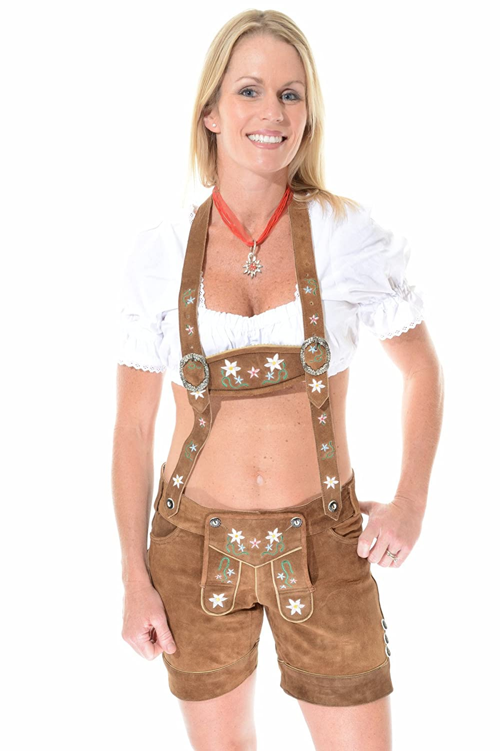 amazon com womens lederhosen for oktoberfest female lederhosen