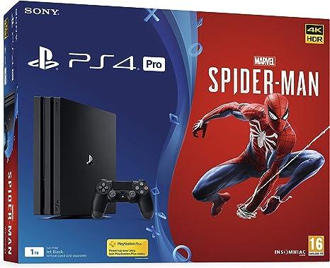 PlayStation 4 Pro Console 1TB with Marvels Spider Man [Importación inglesa]: Amazon.es: Videojuegos