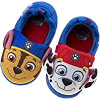 Nickelodeon Paw Patrol Boys and Girls Plush Slip On Slippers (Toddler/Little Kid)