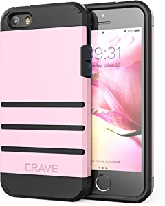 iPhone SE [2016](1st gen) Case, iPhone 5s Case, Crave Strong Guard Protection Series Case for iPhone 5 5s SE - Pink