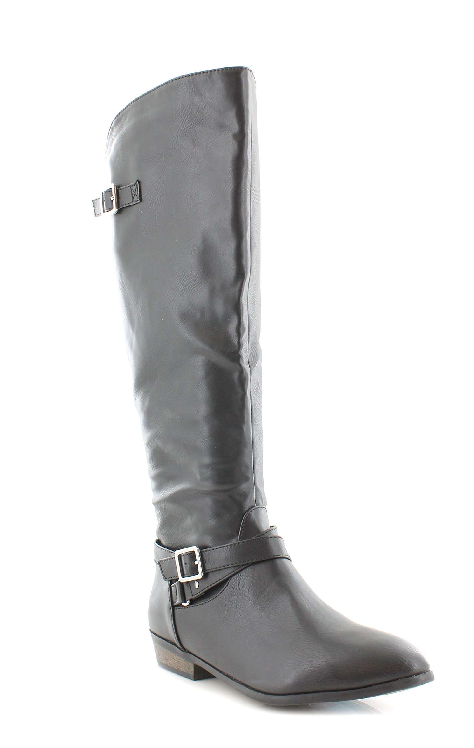 ed4a4148a5a Galleon - Material Girl Womens Capri Almond Toe Knee High Fashion Boots