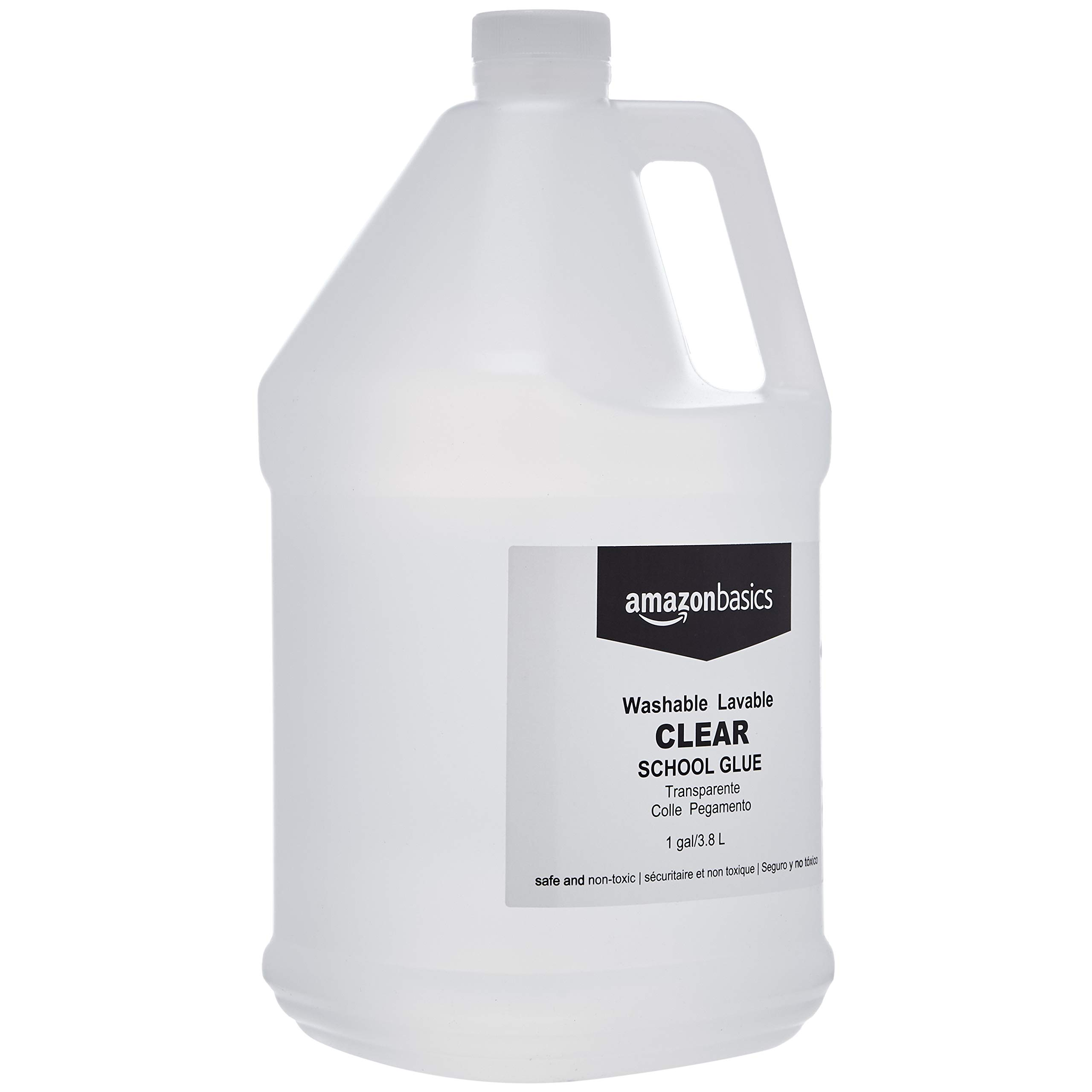AmazonBasics All Purpose Washable Clear Liquid Glue - Great for Making Slime, 1 Gallon Bottle