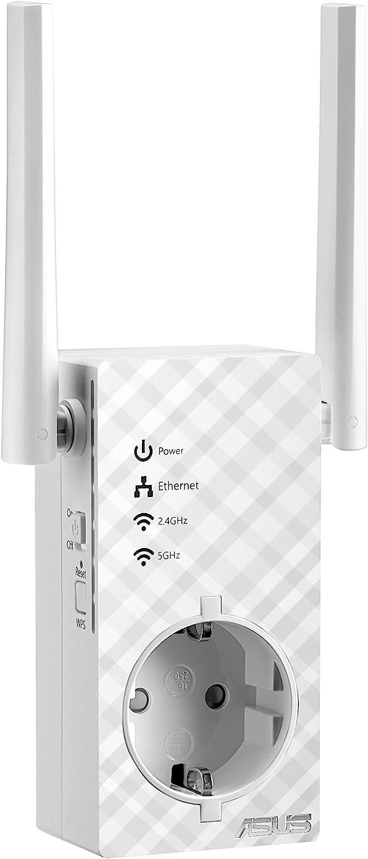 ASUS RP-AC53 - Repetidor/Punto Acceso inalámbrico con passthrough (Dual-Band AC750, indicador señal, Puerto LAN)