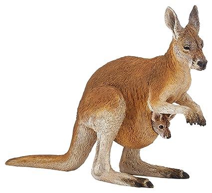 Papo Kangaroo with Joey Figure, Multicolor