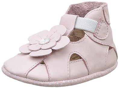 Robeez Unisex Baby Pretty Pansy Krabbelschuhe, Pink (Rose), 17/18 EU