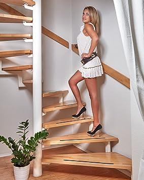 foto-kontor Tiras Antideslizantes para escaleras y peldaños de Color Negro 18 Tiras Antideslizantes para escalares: Amazon.es: Electrónica