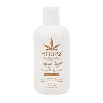 9efdab7359 Amazon.com : Hempz Tahitian Vanilla & Ginger Herbal Body Wash 8 oz ...